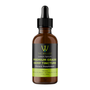 Premium CBD Tincture 1000mg Lemon Flavored Hemp Oil