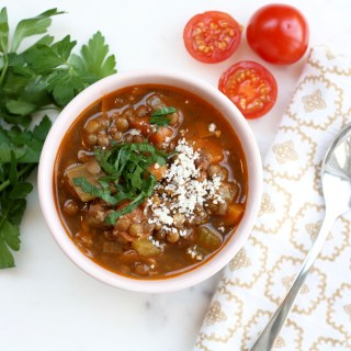 Hearty Winter Lentil Soup.