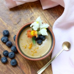 Orange Posset with Blueberries