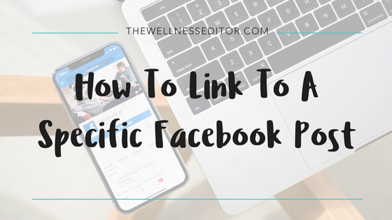 How to link to a specific Facebook post
