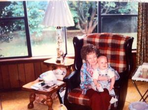 Justin and his great grandma, Nana