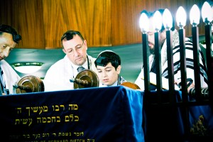 Karl's bar mitzvah call-up, thursday morning [photo: Howard Gordon]