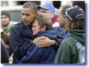obama comforts new jersey victim 300x228 How A Real President Responds To Crisis