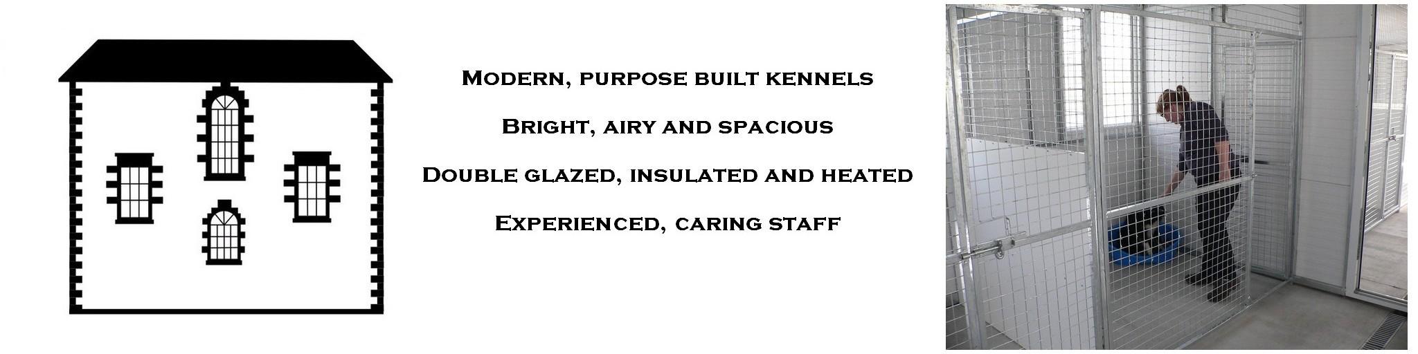 Inside the kennels