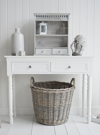 Grey Willow Round Storage Logs Toy Basket From The White