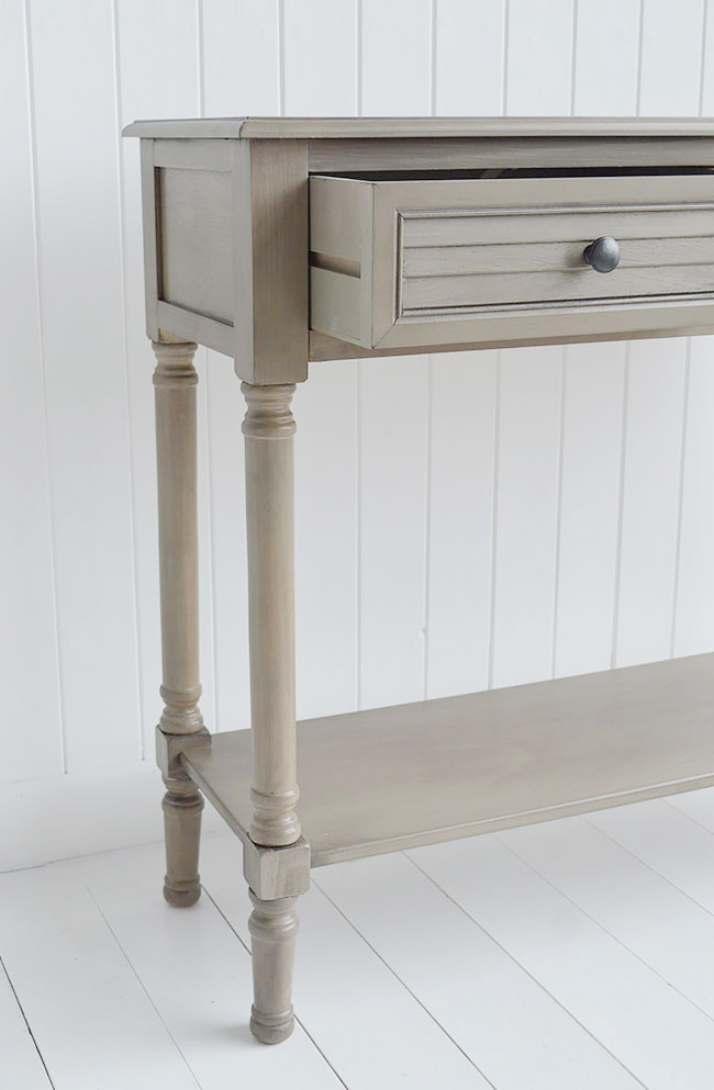 Newport French Grey Console Table For Country Cottage