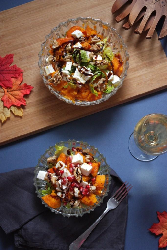 Herbstlicher Kürbis Salat