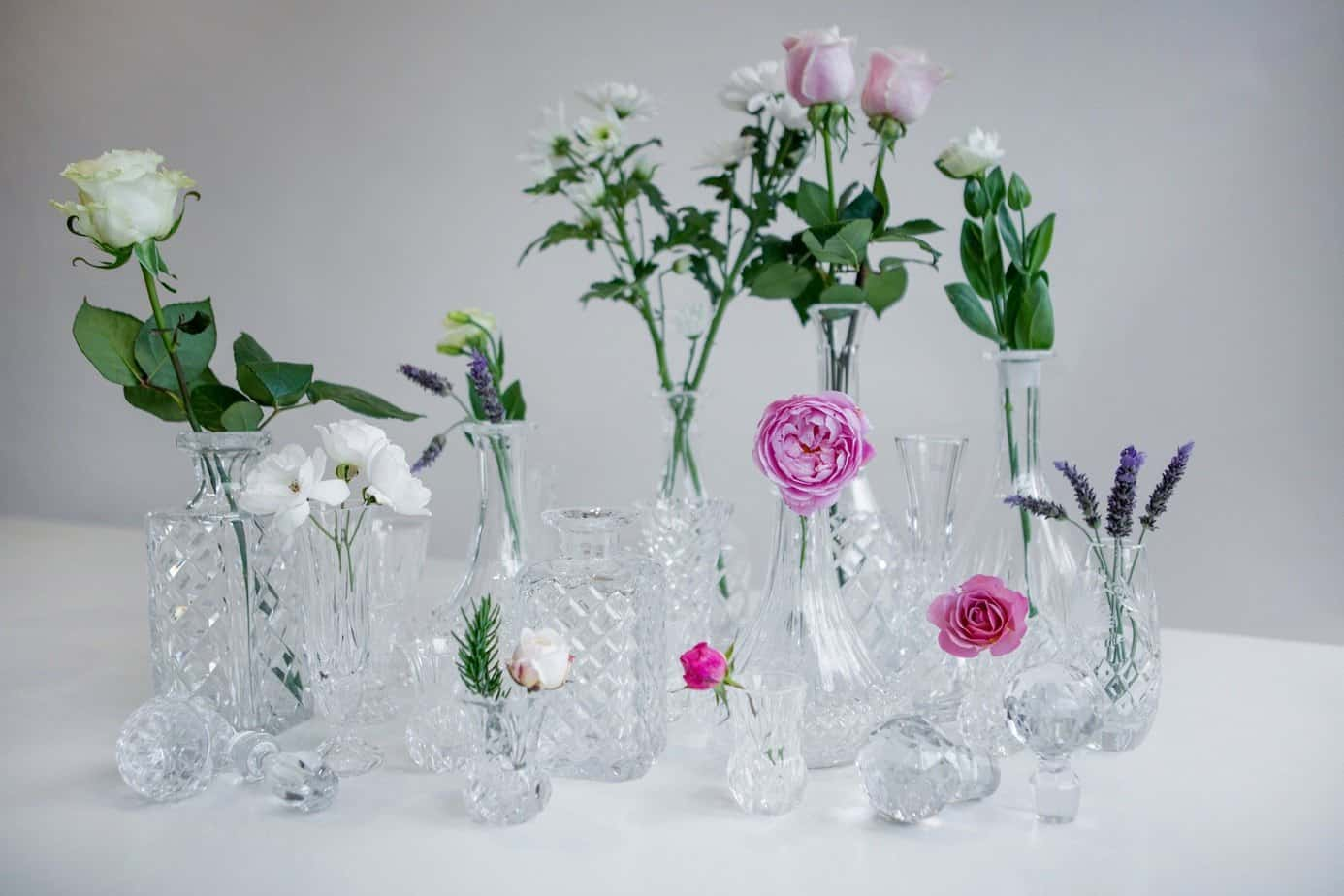 Vases wedding hire Raglan