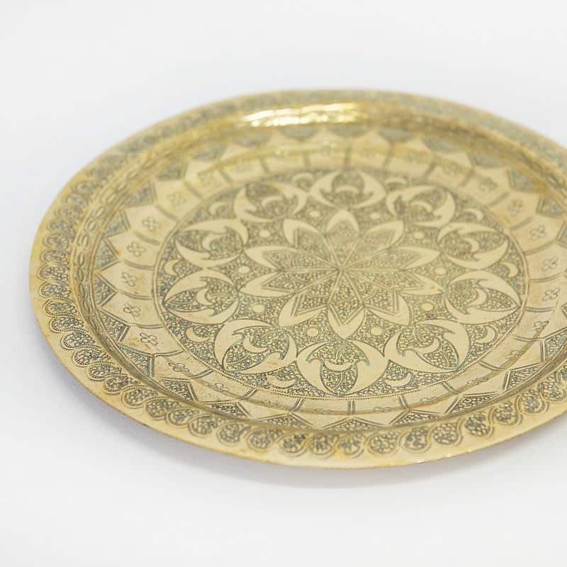Moccocan Brass plate round