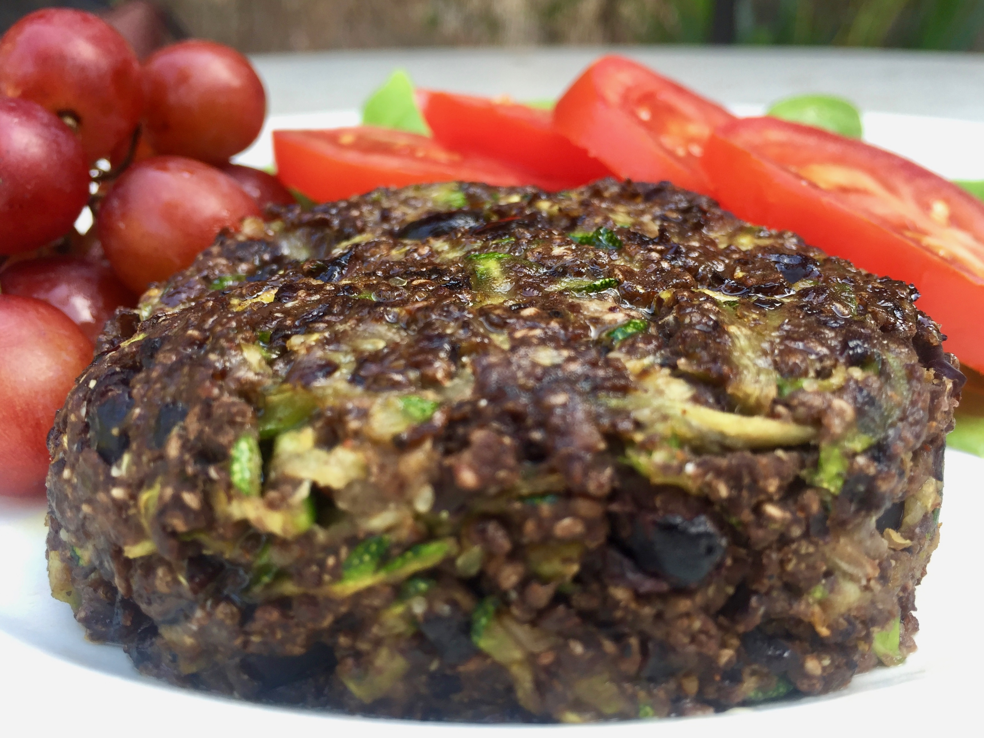 Protein Packed Zucchini Black Bean Burgers