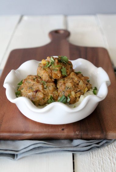 chicken mango jalapeno meatballs