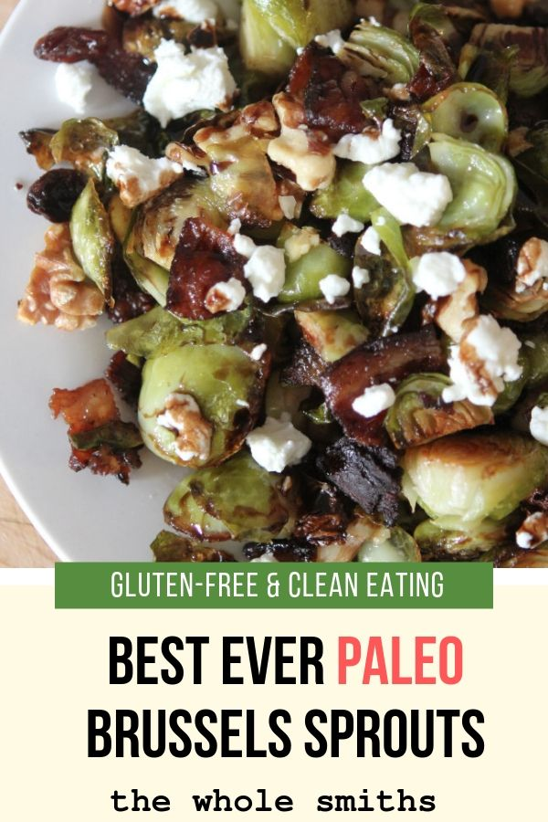 paleo roasted brussels sprouts pinterest graphic