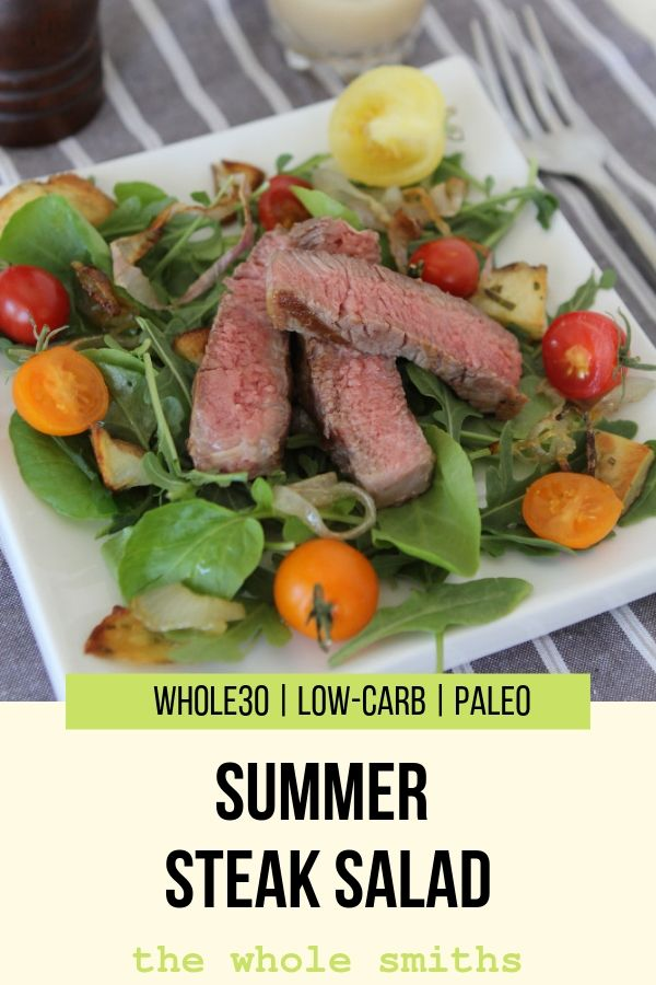 Paleo Steak Salad Pinterest Graphic