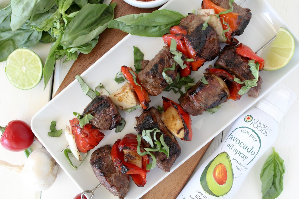 Thai Basil Beef Kebabs from the Whole Smiths. PERFECT for anything BBQ. Gluten free and paleo friendly.
