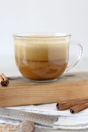 A fall favorite with a fraction of the sugar! This Pumpkin Spice Latte is dairy-free, paleo-friendly, vegan and amazing!