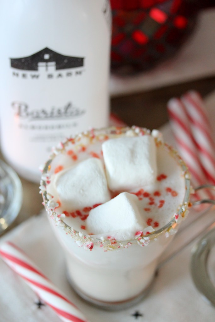 A paleo-ish Peppermint White Hot Chocolate from the Whole Smiths. Kick things up a notch this holiday season with this festivecocktail or simply omit the vodka for a fun kid-friendly drink.