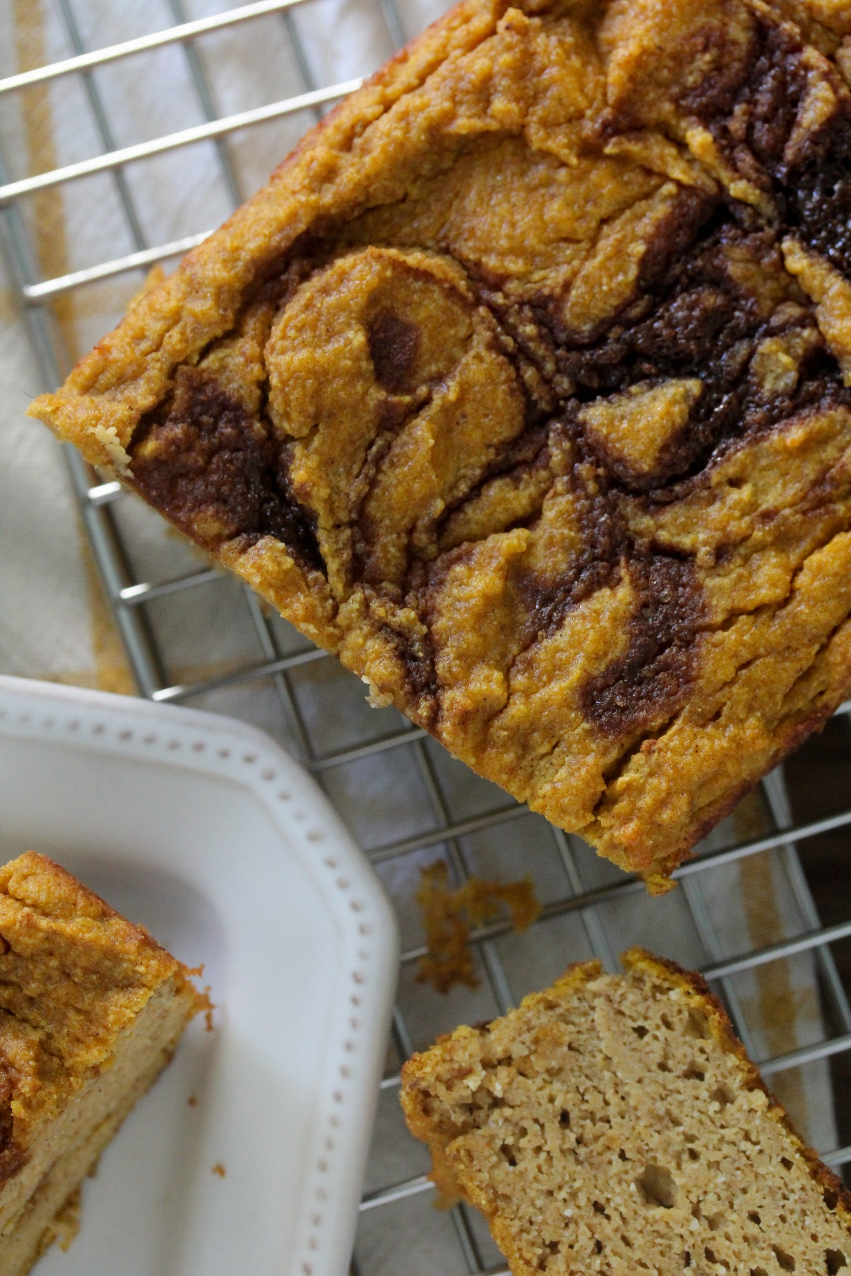 Grain-Free Cinnamon Swirl Pumpkin Bread from The Whole Smiths. It's paleo, grain-free and delicious!