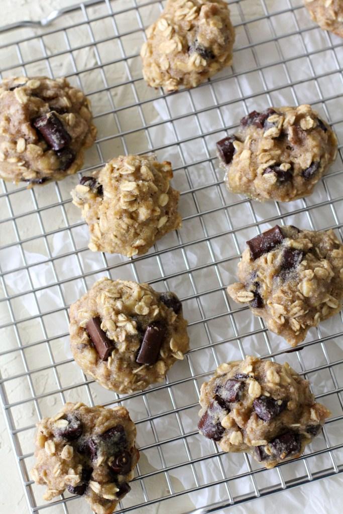 freshly baked gluten-free breakfast cookies on a cooling rack