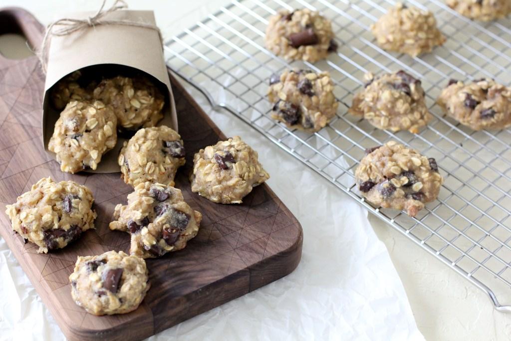gluten-free healthy breakfast cookies on a cooling rack
