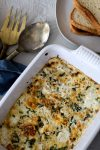 Baked Egg Casserole with tomatoes and basil