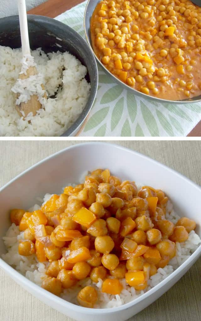 Coconut Curry Garbanzo Beans