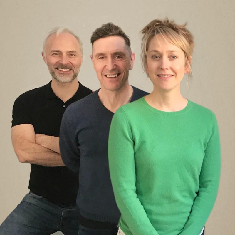 Mark Bonnar, Paul McGann & Hattie Morahan