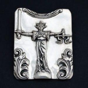 bespoke lady justice pendant