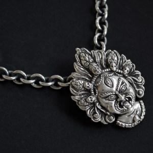 bespoke mahakala mask pendant