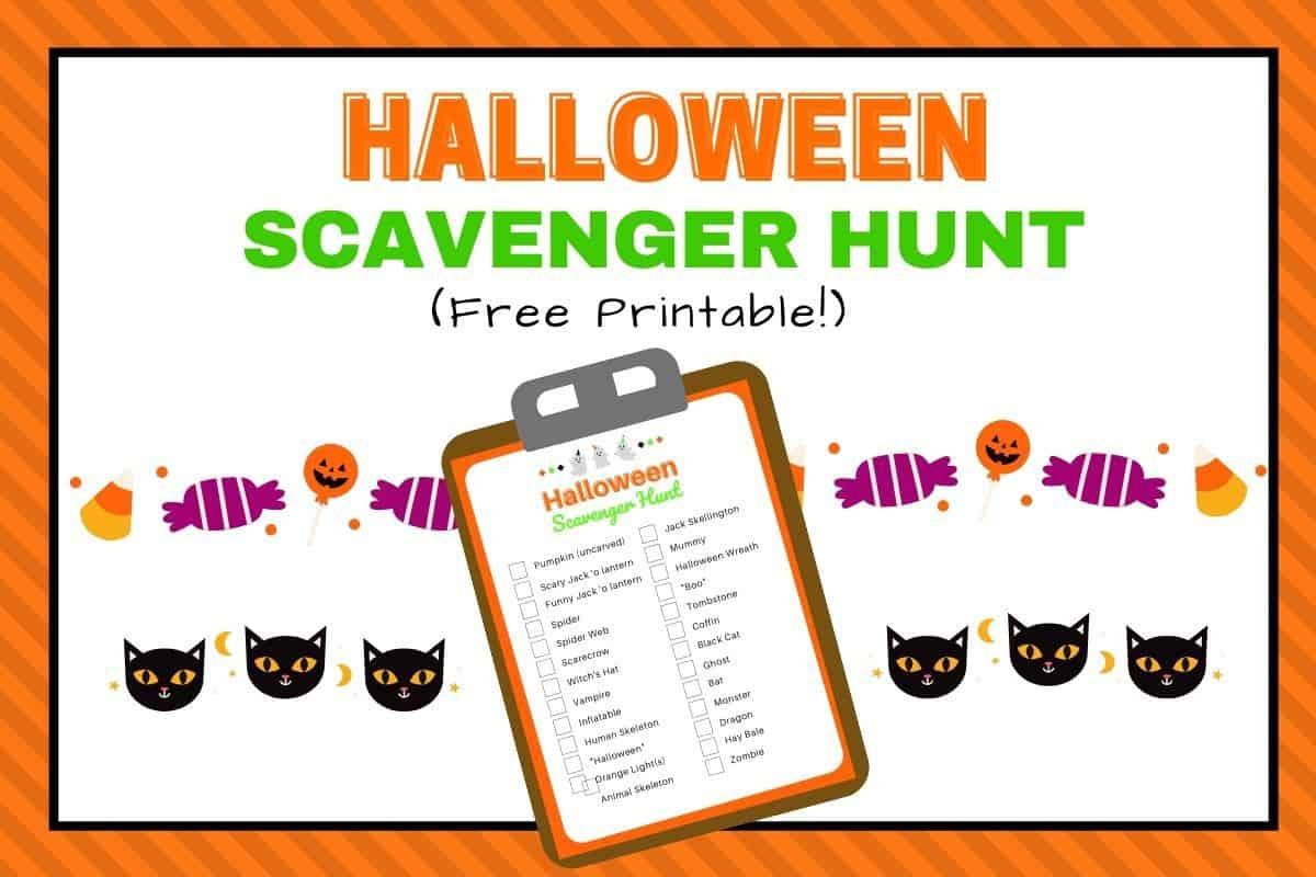 Halloween Scavenger Hunt For Kids Printable Free