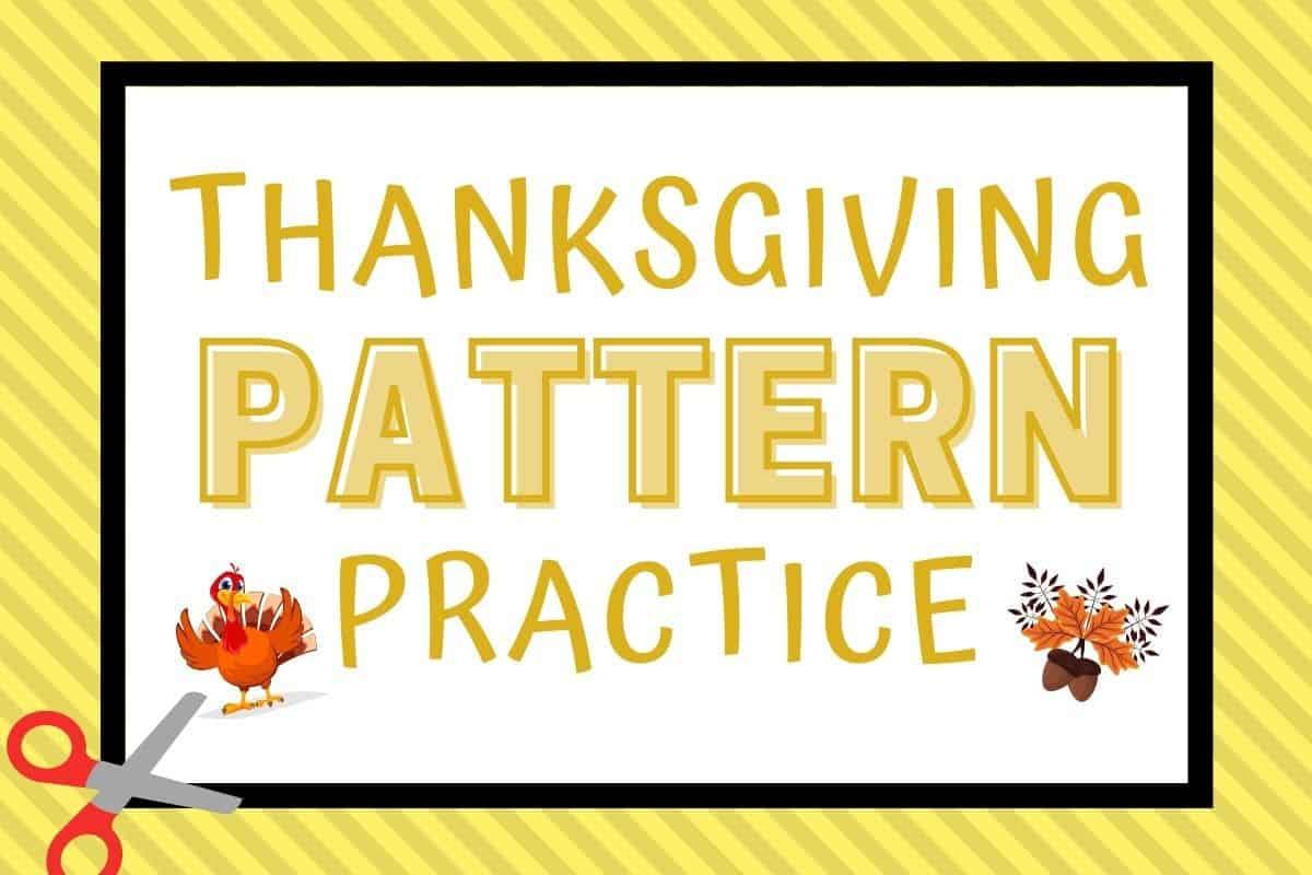 Thanksgiving Pattern Worksheets For Preschool And Kindergarten