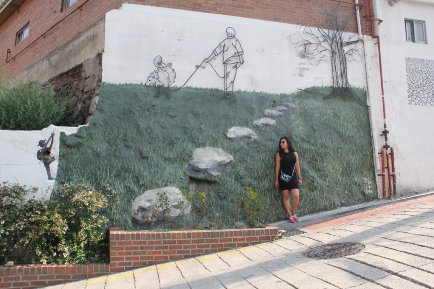 South Korea has a lot of unique and pretty murals and wall art