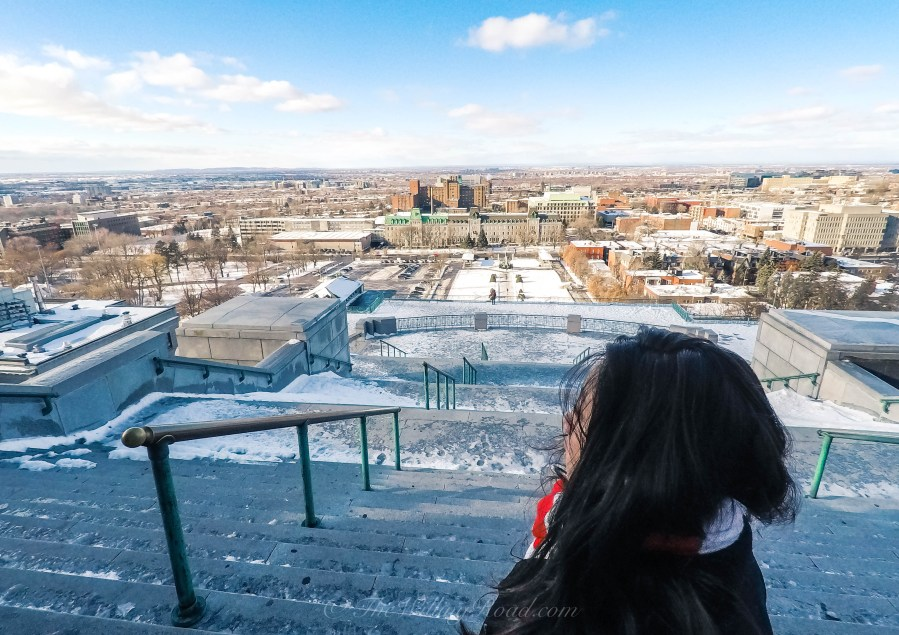 solo female travel trhough montreal in winter