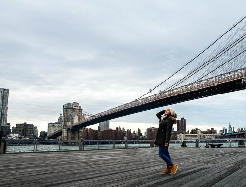 Travel to the New York and hang out beneath the Brooklyn bridge