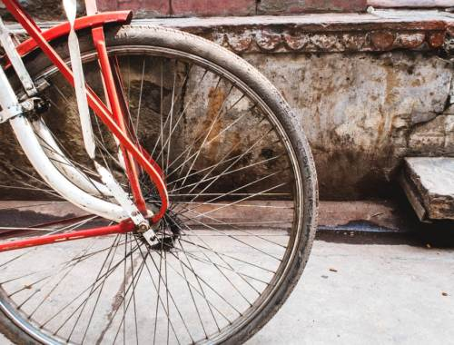Chadni Chowk: peddle bikes are still widely used for commute in India