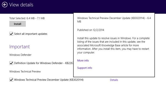 Win 10 Dec update