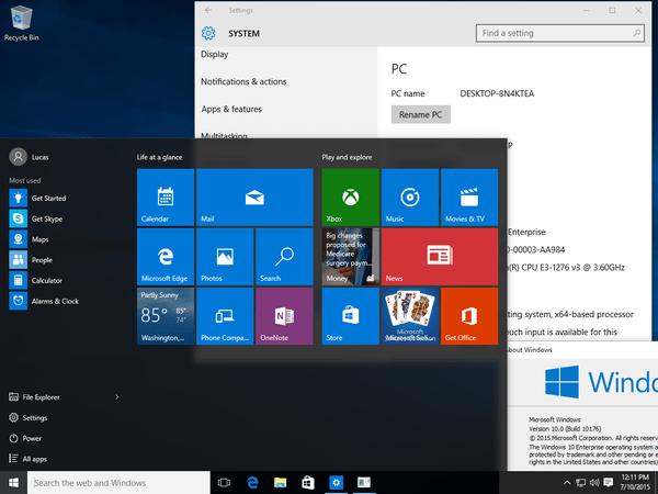 Windows 10 Build 10176 screenshots & ISO download link