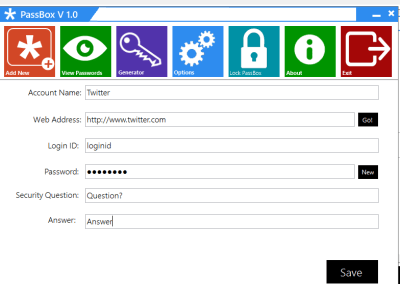 Add 400x284 PassBox : Free Password Manager & Generator for Windows 8 | 7