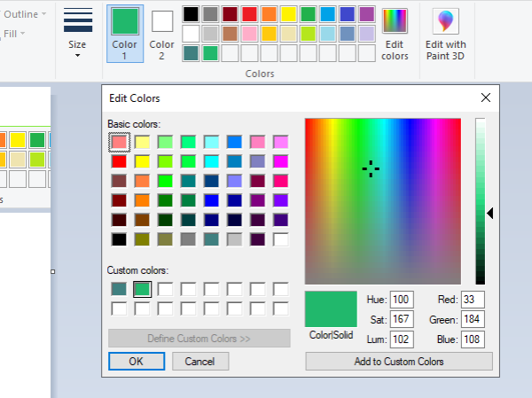 How to add text and change color of font in MS Paint in ...