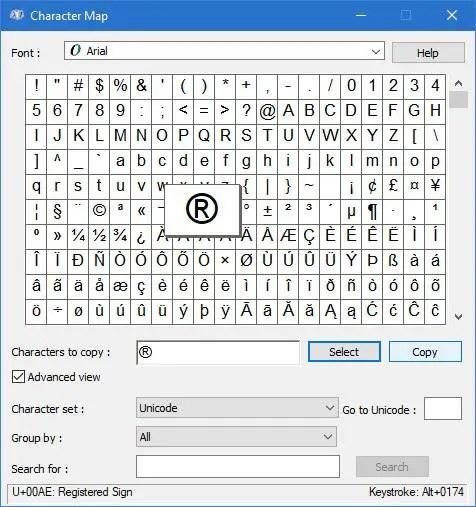 add symbol email