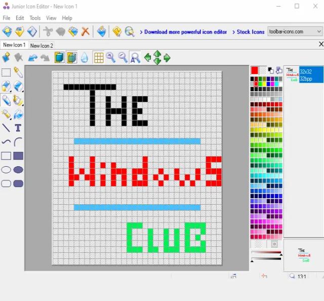 Junior Icon Editor software