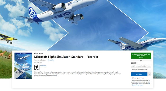 System requirements for Microsoft Flight Simulator 2021