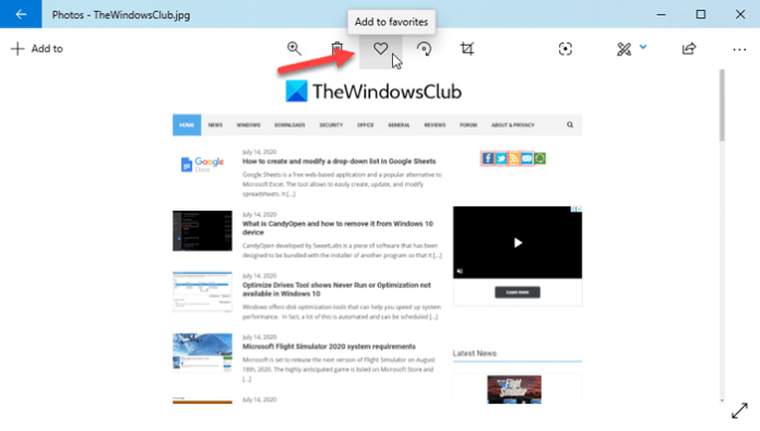 How to add Favorites in the Photos app