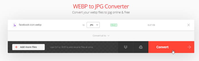 How to convert WebP to JPG online and offline