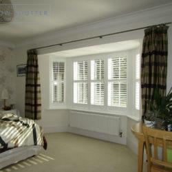bay window shutters custom made to