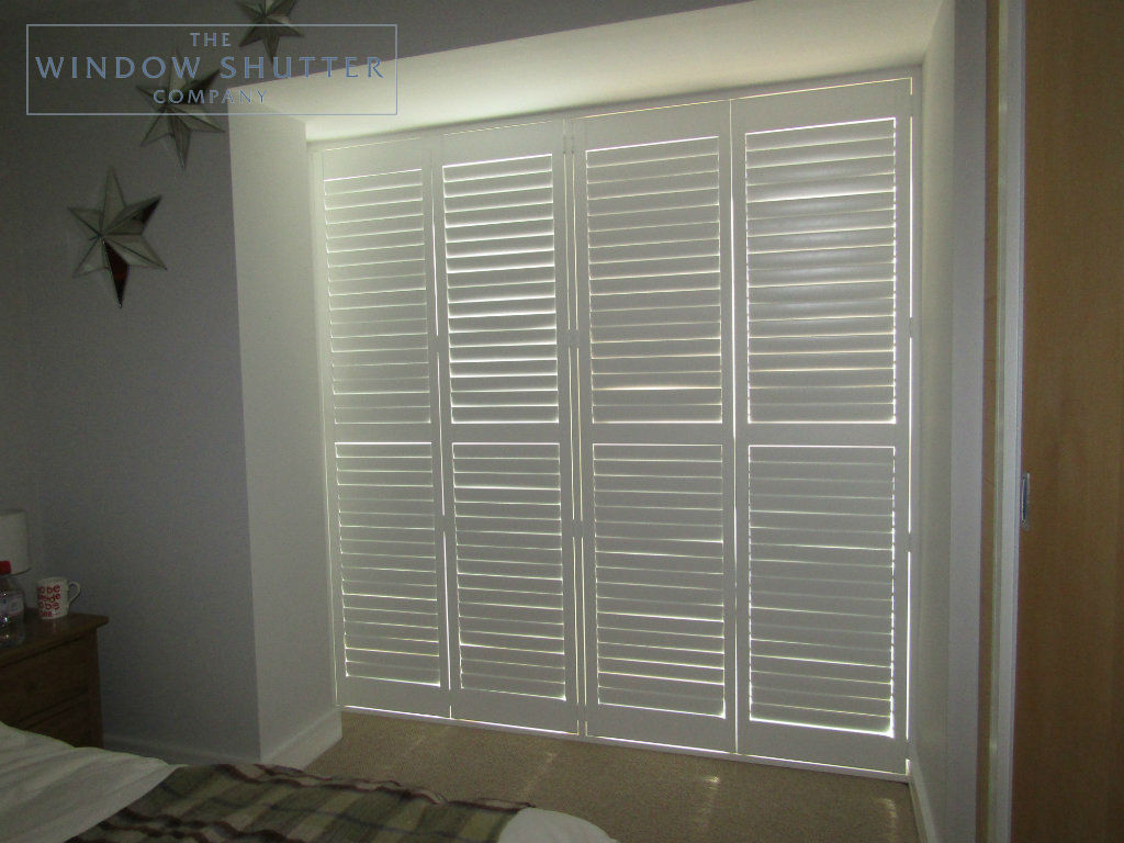 Floor To Ceiling Full Height Shutters Show Off This Modern