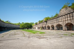 The parade ground in Fort Tompkins
