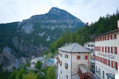 A view of the Bagni Vecchi di Bormio, Italy