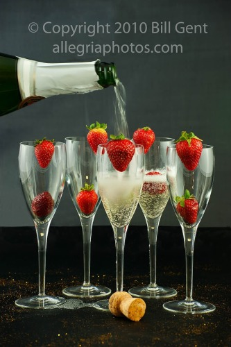A glass of champagne on New Year's Eve