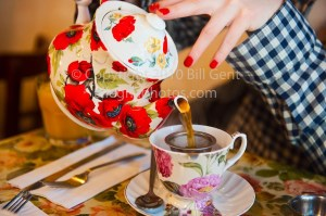 Pouring a cup of Tea at Tea and Sympathy, New York