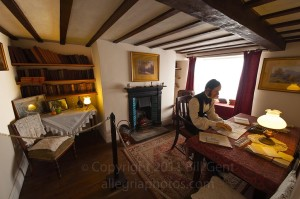 Charles Kingsley in his cottage, Clovelly